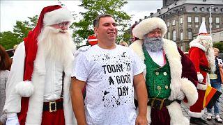 ویدئو؛ گردهمایی بابانوئلهای جهان در دانمارک