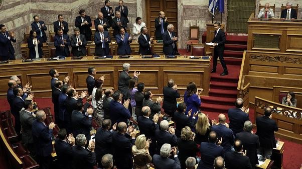 Ψήφο εμπιστοσύνης πήρε η κυβέρνηση του Κυριάκου Μητσοτάκη