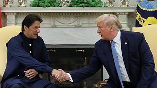 عمران خان و دونالد ترامپ در کاخ سفید