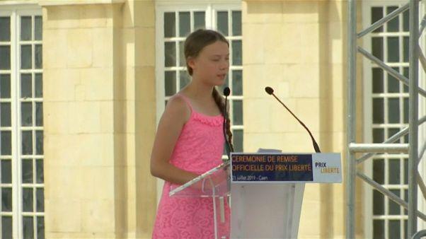 Greta Thunberg divide França