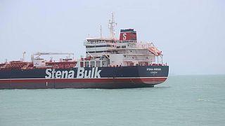 الناقلة البريطانية ستينا إمبيرو في ميناء بندر عباس يوم 20 يوليو تموز 2019