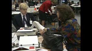 Memórias sobre o jornalista Boris Johnson em Bruxelas