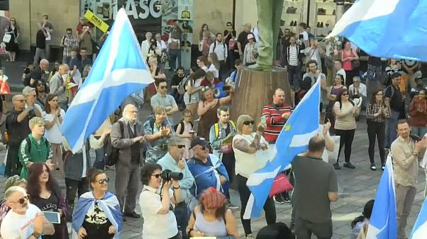 Watch: Anti-Boris Johnson and pro-independence protest held in Glasgow