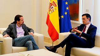 Pablo Iglesias e Pedro Sanchez continuam à procura de consenso para governar