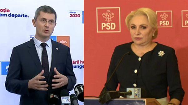 A romániai elnökválasztás két rivális jelöltje