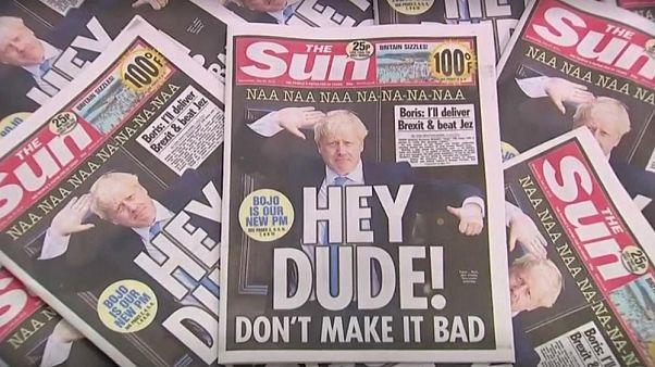 واکنش روزنامههای بریتانیا به نخست وزیری جانسون