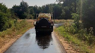 Streuwagen der Kommune Noordenveld