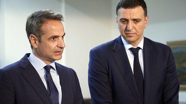 Ο πρωθυπουργός Κυριάκος Μητσοτάκης και ο υπουργός Υγείας Βασίλης Κικίλιας