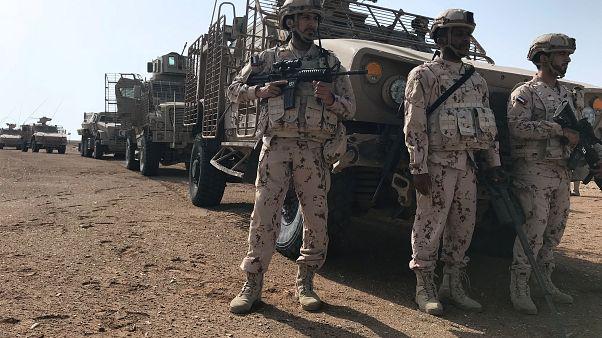 أفراد من القوات المسلحة الإماراتية في المخا يوم 6 مارس آذار 2018