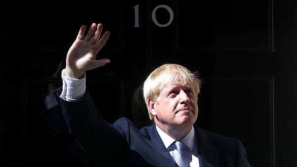Boris Johnson devant la fameuse porte noire du 10 Downing Street - 24/07/2019