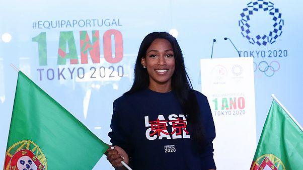 """Patrícia Mamona no evento """"Um Ano para os Jogos Olímpicos Tóquio 2020"""""""