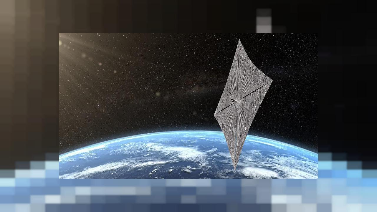 Lightsail 2, when its sails will be deploted - artist's impression