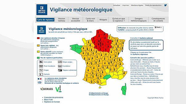 Capture du site www.meteofrance.com, le 24/07/2019