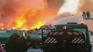 Hatalmas tűz Zágrábban