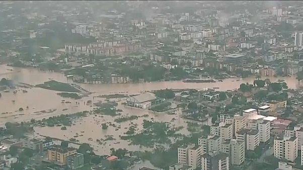 Imagem aérea de Recife, capital do Pernambuco, no Brasil