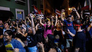 جانب من مظاهرات بويرتوريكو