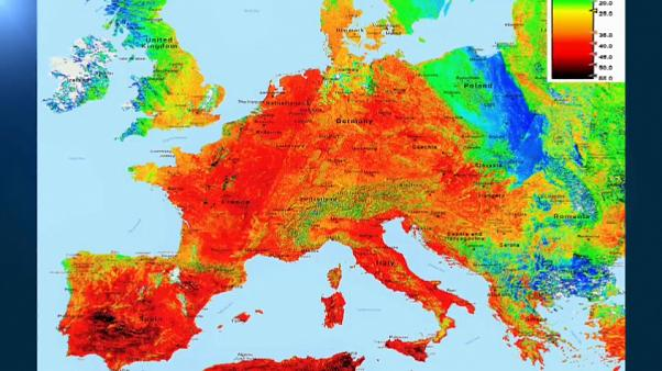 Calor escaldante na Europa