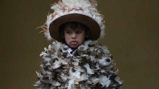 Watch: Parade of plumed Paraguayans celebrate their patron saint