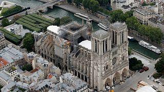 موج گرما در فرانسه؛ خطر ریزش کلیسای نوتردام
