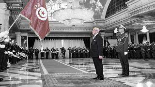 صورة للرئيس التونسي الراحل الباجي قائد السبسي