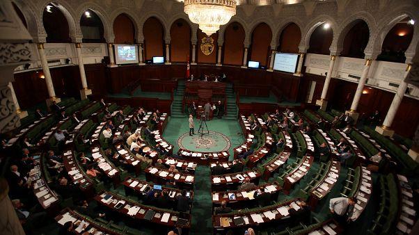 منظر عام من داخل البرلمان التونسي
