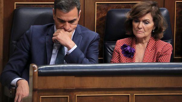 İspanya Başbakanı Sanchez ve Başbakan Yardımcısı Carmen Calvo