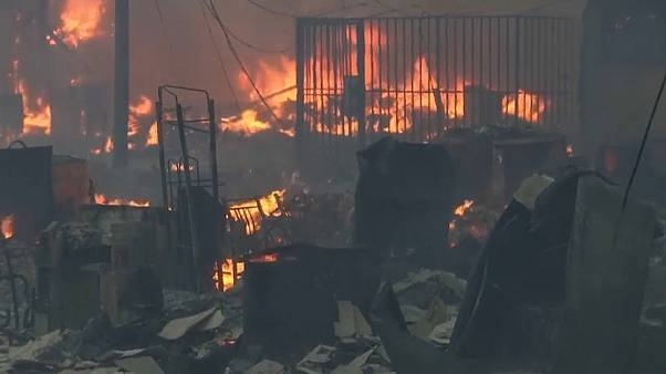 صورة للحرائق المشتعلة في البيرو