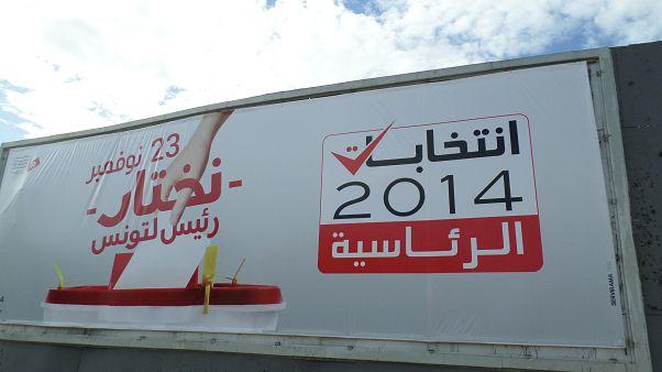 معلقة إشهارية لانتخابات الرئاسة في تونس 2014