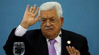 عباس خلال مؤتمر صحفي رام الله