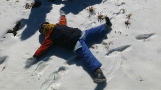 Un manto blanco de nieve cubre Bolivia