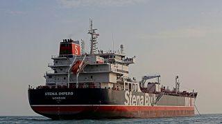 الناقلة البريطانية المحتجزة لدى إيران ستينا إمبيرو- صورة من وكالة أنباء ميزان
