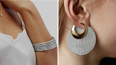 Earrings and braclet