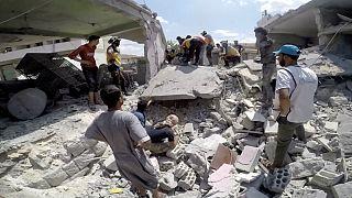 حملات هوایی به استان ادلب در سوریه