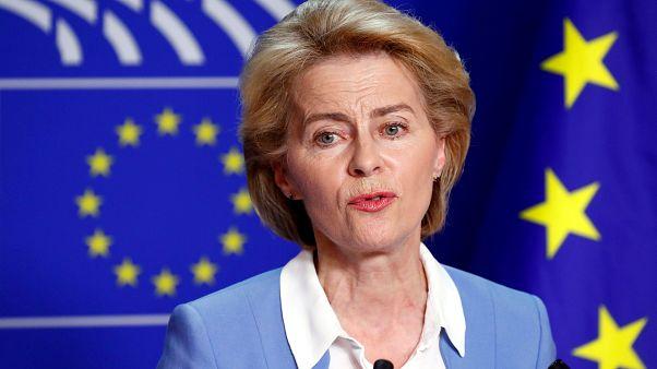 La présidente élue de la Commission européenne Ursula von der Leyen