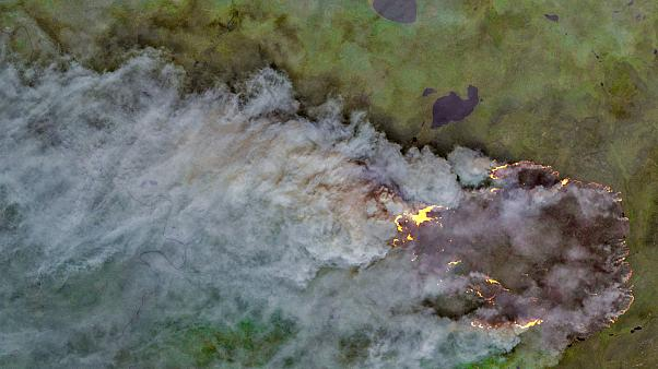 Wildfire at the Sakha Republic, Russia, on July 22.