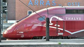 Archives - Un train Thalys en gare d'Arras dans le nord de la France, le 21 août 2015