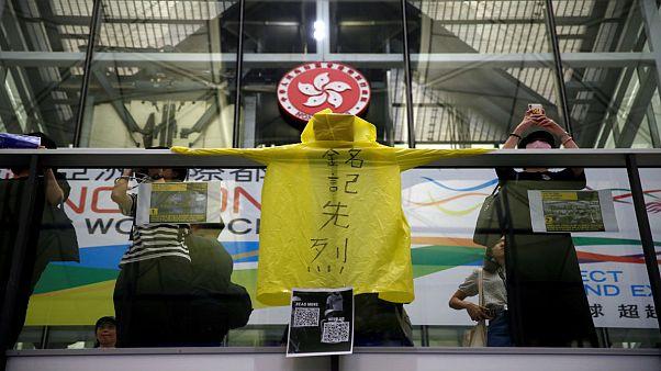 معترضان هنگکنگی در فرودگاه