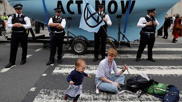 Az Extinction Rebellion egyik londoni demonstrációja