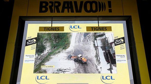 Tour de France: 19. Etappe wegen Schnees vorzeitig abgebrochen