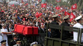 شاهد: تونس تودع رئيسها الباجي قائد السبسي في جنازة مهيبة بحضور عدد من قادة العالم