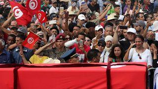 مراسم تشییع جنازه رئیس جمهور متوفی تونس برگزار شد