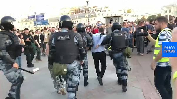 Watch: Protesters detained while demanding fair elections in Moscow