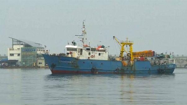 شاهد: كوريا الشمالية تفرج عن سفينة صيد روسية محتجزة