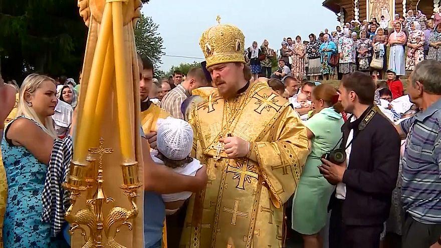 ویدیو؛ برگزاری مراسم غسل تعمید در شهرهای روسیه