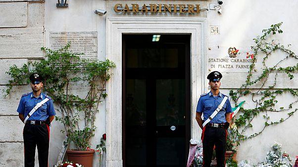 Elbúcsúztak a leszúrt olasz rendőrtől