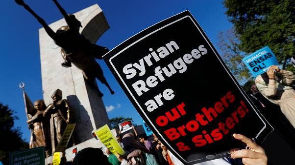 Suriyeli göçmenlere destek gösterisi / İstanbul