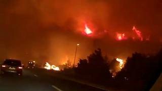 Imagem recolhida por Mirko Bulic enquanto conduzia nas proximidades do incêndio
