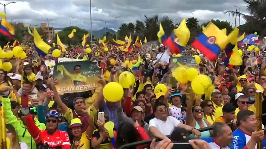 Colômbia em festa com triunfo de Egan Bernal no Tour