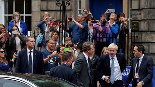 Boris Johnson, abucheado en Escocia