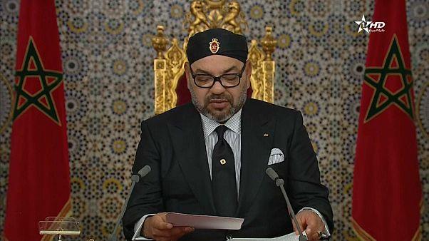 العاهل المغربي محمد السادس في خطاب العرش أمس